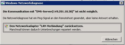 Bildschirmfoto-DNS-test